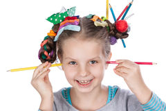 Child and creativity, development Royalty Free Stock Photography