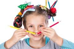 Child and creativity, development Stock Image