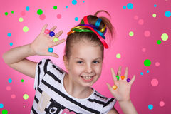 Child and creativity, development. Royalty Free Stock Images