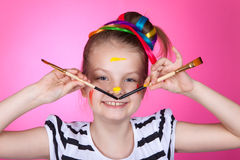 Child and creativity, development. Stock Photos