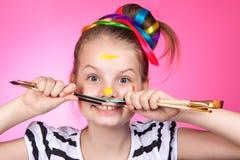 Child and creativity, development. Royalty Free Stock Photos