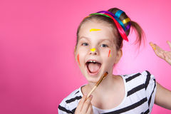 Child and creativity, development. Royalty Free Stock Image