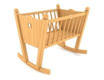 Child crib isolated on white background Stock Image