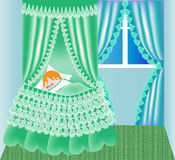 Child in cribs sleeps Royalty Free Stock Photos
