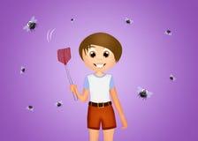 Child crushes flies Stock Photos