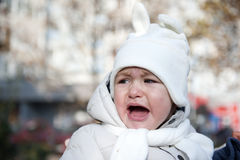 Child crying. Portrait with sad little boy crying Royalty Free Stock Images