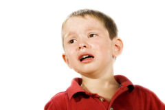 Child Crying. Stock image of child crying, isolated on white Stock Photography