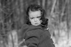 Child crying in nature Stock Image