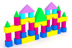 Child cubes. Illustration children's toys cubes color are created in the 3D editor Royalty Free Stock Photos