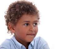 Child with curly hair Royalty Free Stock Images