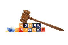 Child Custody. A group of isolated objects in regards to the concept of child custody Royalty Free Stock Photo