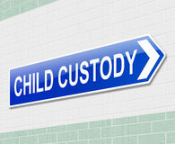Child custody concept. Royalty Free Stock Photography