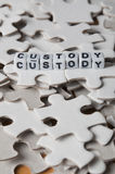 Child Custody. Conceptual image of the complexity of child custody within divorce or separation Stock Photography