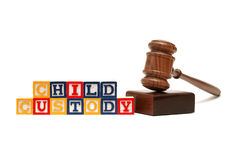 Child Custody. A group of isolated objects in regards to the concept of child custody Stock Images
