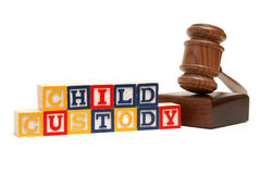 Child Custody. A group of isolated objects in regards to the concept of child custody Royalty Free Stock Photography