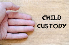 Child custody text concept Royalty Free Stock Photos