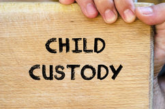Child custody text concept Stock Photo