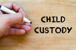 Child custody text concept Stock Image