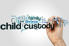 Child custody word cloud concept Stock Images