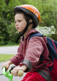 Child  cyclling on bike Royalty Free Stock Image