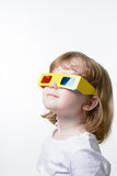 Child in 3D glasses Royalty Free Stock Photo