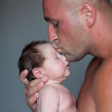 Child and Dad Royalty Free Stock Images