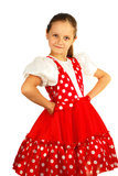 The child dances in Russian dance costume Royalty Free Stock Images