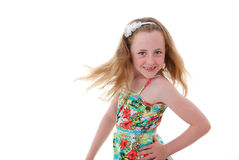 Child dancing Stock Photography