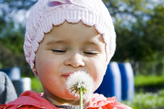 Child with dandelion Royalty Free Stock Photo