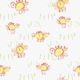 Child& x27 de Dinos; dibujo de s Imagen de archivo libre de regalías