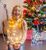 Child decoration christmas tree royalty free stock photo