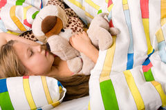 Child in a deep sleep Stock Photography