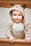 Child in deer costume Royalty Free Stock Photo
