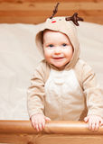 Child in deer costume Stock Photography