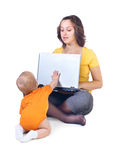 The child demands attention Stock Photo