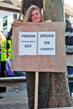 Child demonstrator Royalty Free Stock Images
