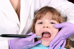 Child dental check Stock Photo