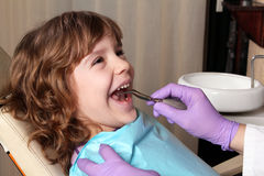 Child dentist stock photography