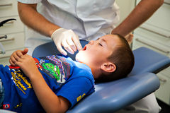 Child at the dentistry Stock Image