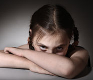 Child in depression Royalty Free Stock Image