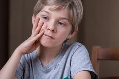 Child with depression Royalty Free Stock Photo