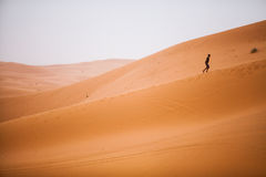 Child in the desert Stock Photography