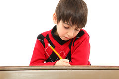 Child Desk Student Work Stock Image
