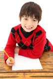 Child Desk Student Work Royalty Free Stock Image
