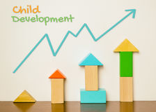 Child Development Graph With Toy Block Stock Photography
