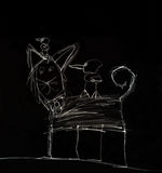Child' dibujo de s de un gato Imagenes de archivo