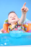 Child dines Royalty Free Stock Photography