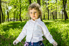 Child with dirty hands chalk Stock Photos
