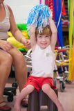 Child with disability Stock Image