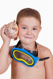 Child with diving mask Stock Photography